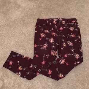 Floral patterned pants